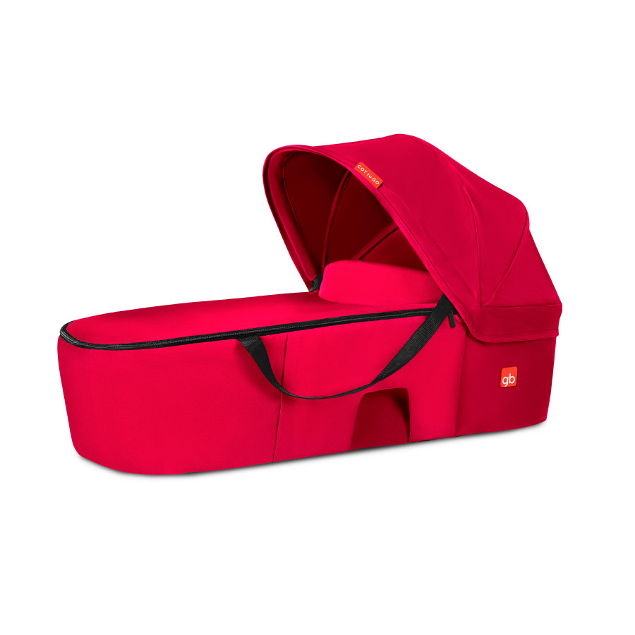 gb Capazo Cot To Go Satin Cherry Red-rojo