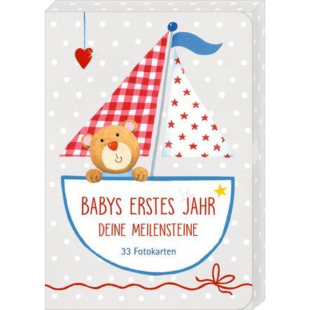 SPIEGELBURG COPPENRATH Fotokarten-Box Babys erstes Jahr Meilensteine  BabyGlück