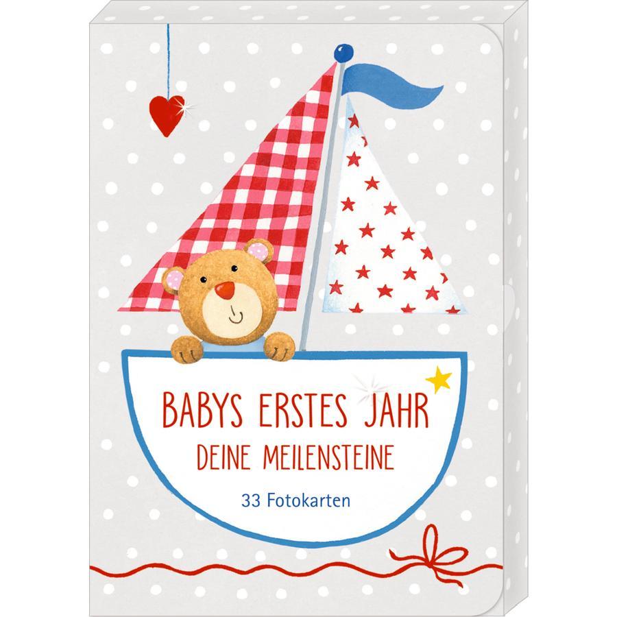 COPPENRATH Boîte Baby de cartes photo de la première année Jalons de la première année Baby Bonheur