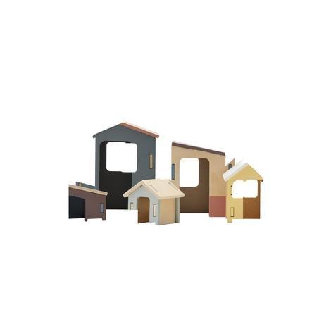 Kids Concept® Sæt med huse i træ