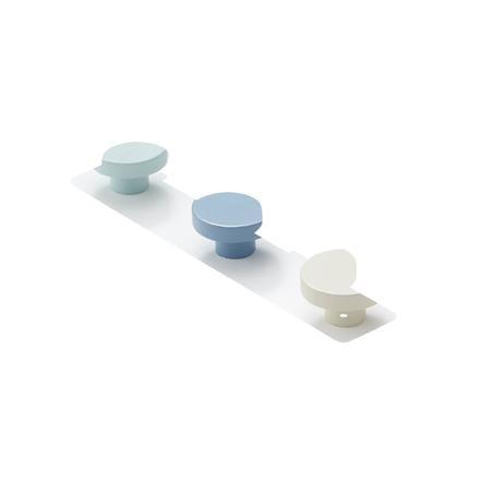 Kids Concept® Portemanteau 3 boutons bleu