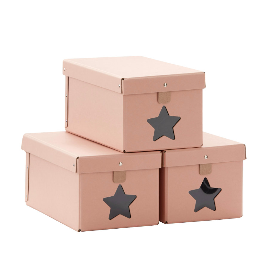 Kids Concept Shoe box pink set of