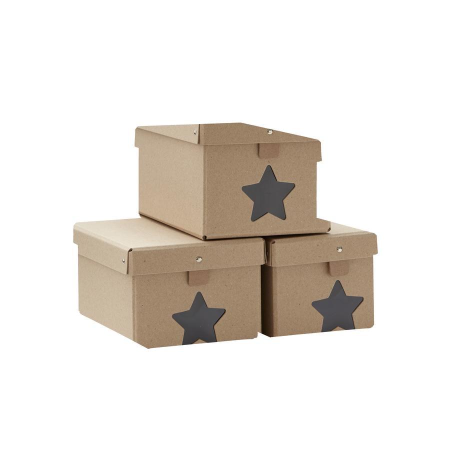 Kids Concept Shoe box natural Set of