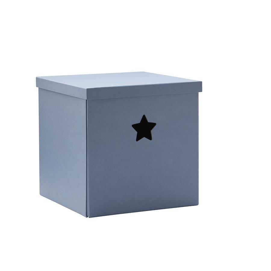 Kids Concept® Boîte de rangement étoile, bleu