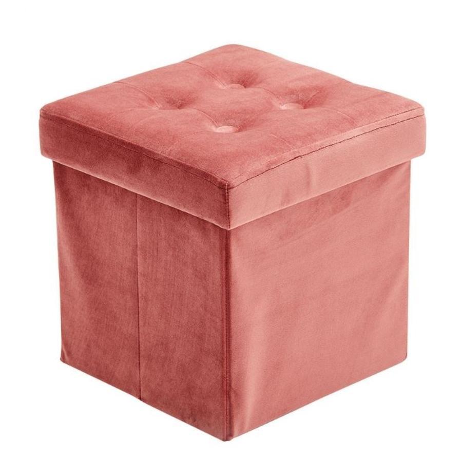 Kids Concept® Fauteuil cube enfant couleur abricot bois/coton