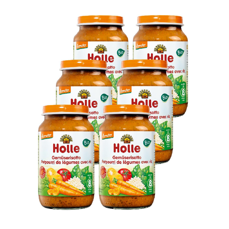 HOLLE Bio Vegetable Risotto 6x220g