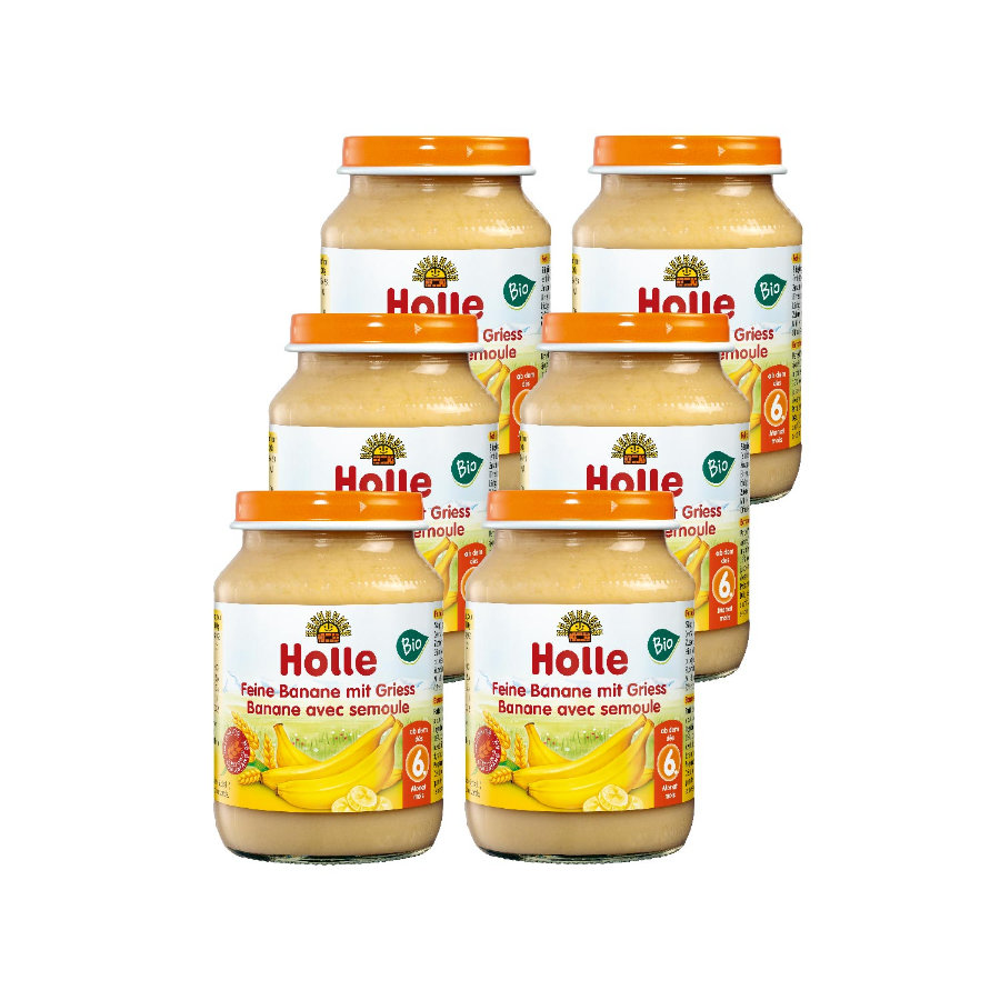 HOLLE Bio Fine Banana and Semolina 6 x 190g