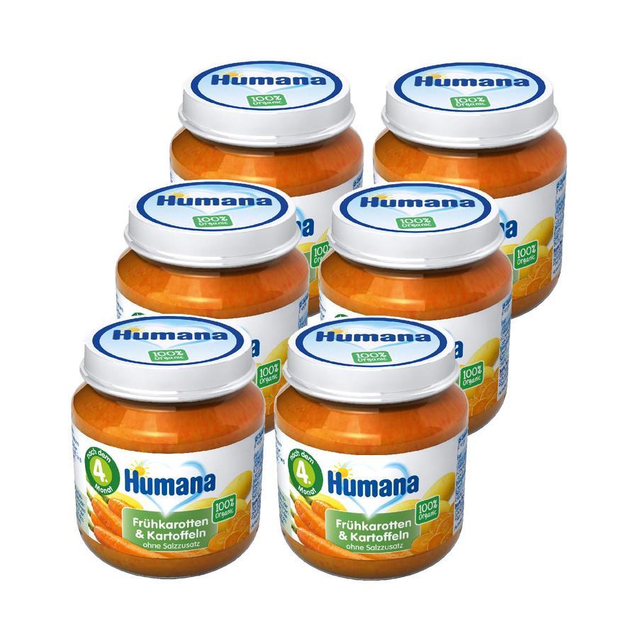 Humana Gläschen Frühkarotten & Kartoffeln 6 x 125 g
