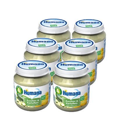 Humana Gläschen Zucchini und Kartoffeln 6 x 125 g