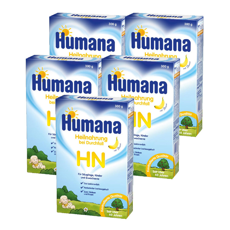 Humana Heilnahrung HN bei Durchfall  5 x 300 g ab der Geburt