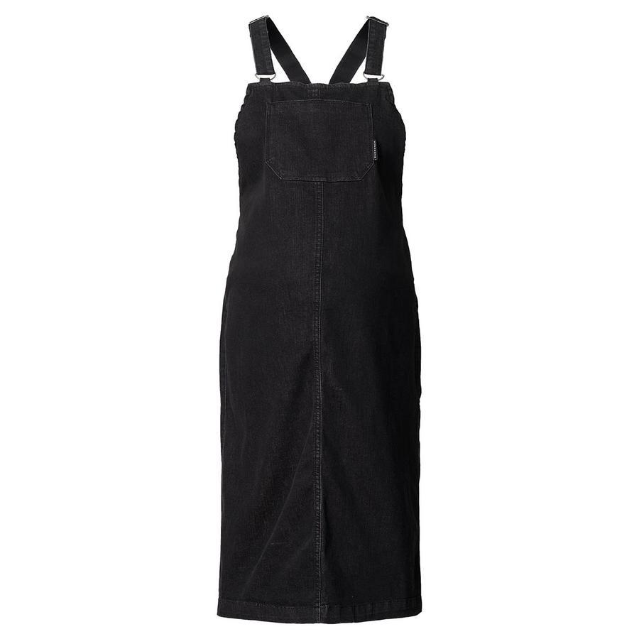 SUPERMOM Robe de maternité Pinafore en denim noir