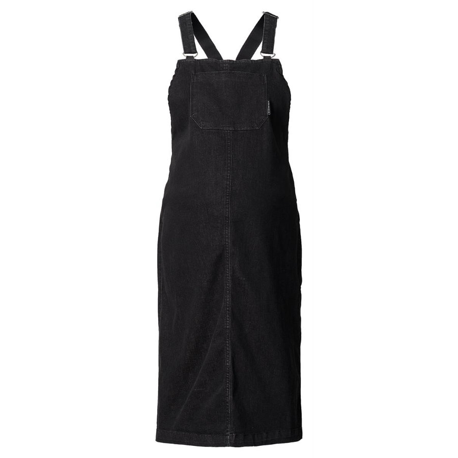SUPERMOM Umstandskleid Pinafore black denim