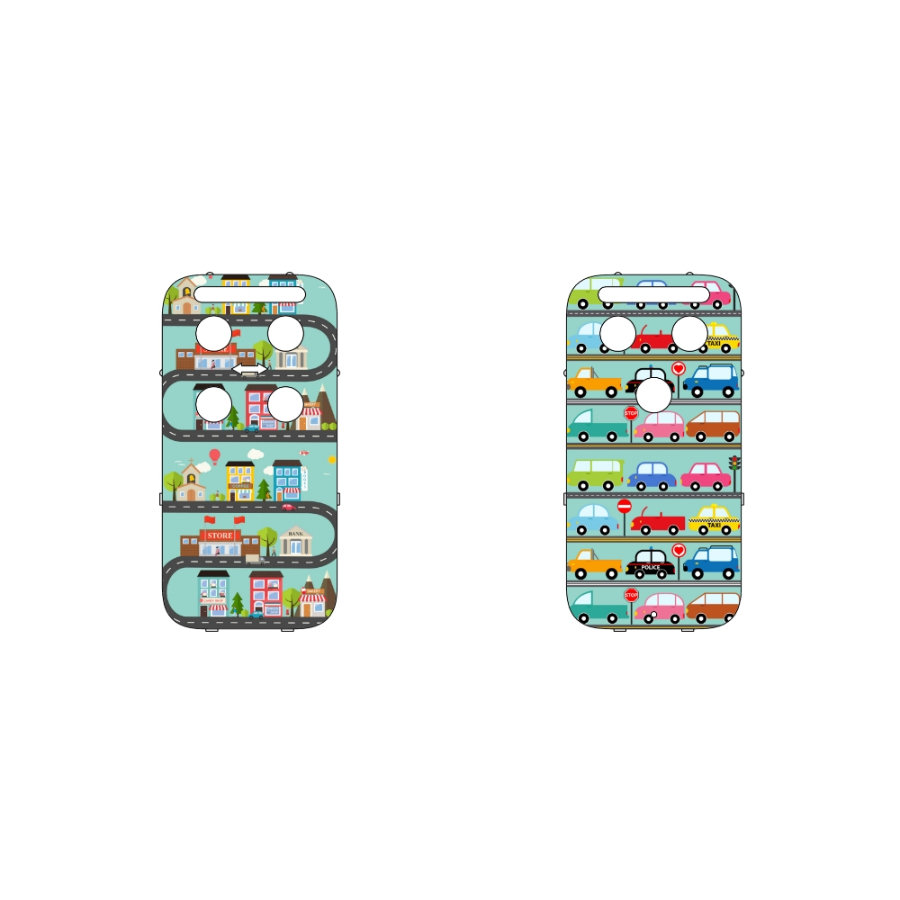 CAPiDi Babyalarm Frontside farverig - biler