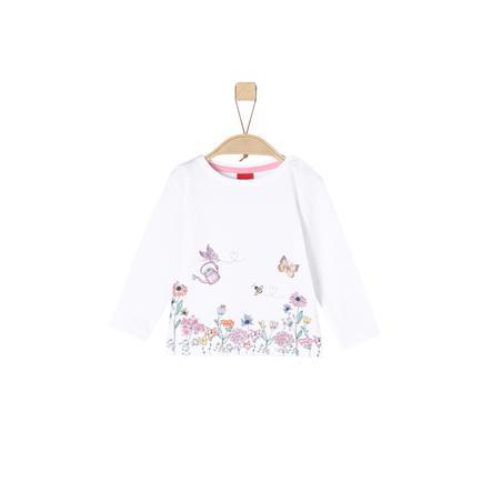 s.Oliver Girl s camisa de manga larga blanca