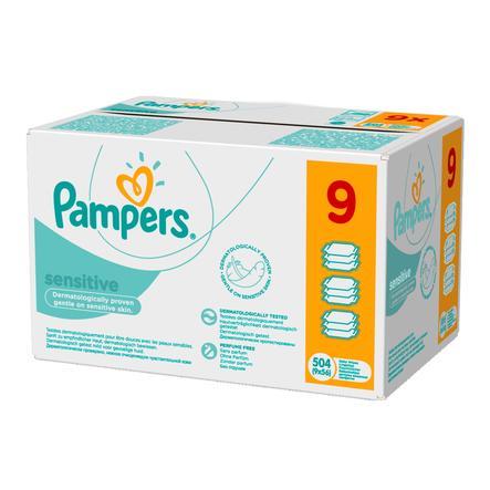 Pampers Vochtige doekjes SENSITIVE voordeelspack Mega 9 x 56 Stuks