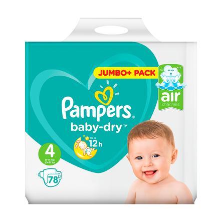 Pampers Baby Dry, koko 4 (8-16 kg), Jumbo Plus Pack 78 kpl