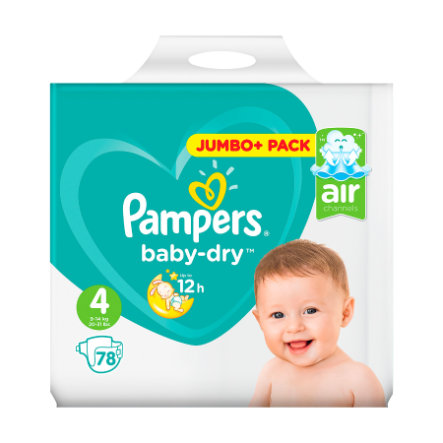 Pampers Baby Dry T.4 Maxi (7-18 kg) Jumbo Plus Pack 78 pièces
