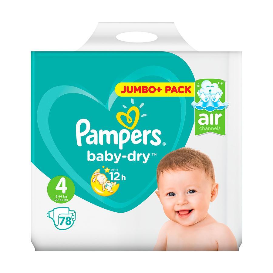 PAMPERS Baby Dry Maxi Misura 4 (7-18 kg) Jumbo Plus Pack 78 pannolini
