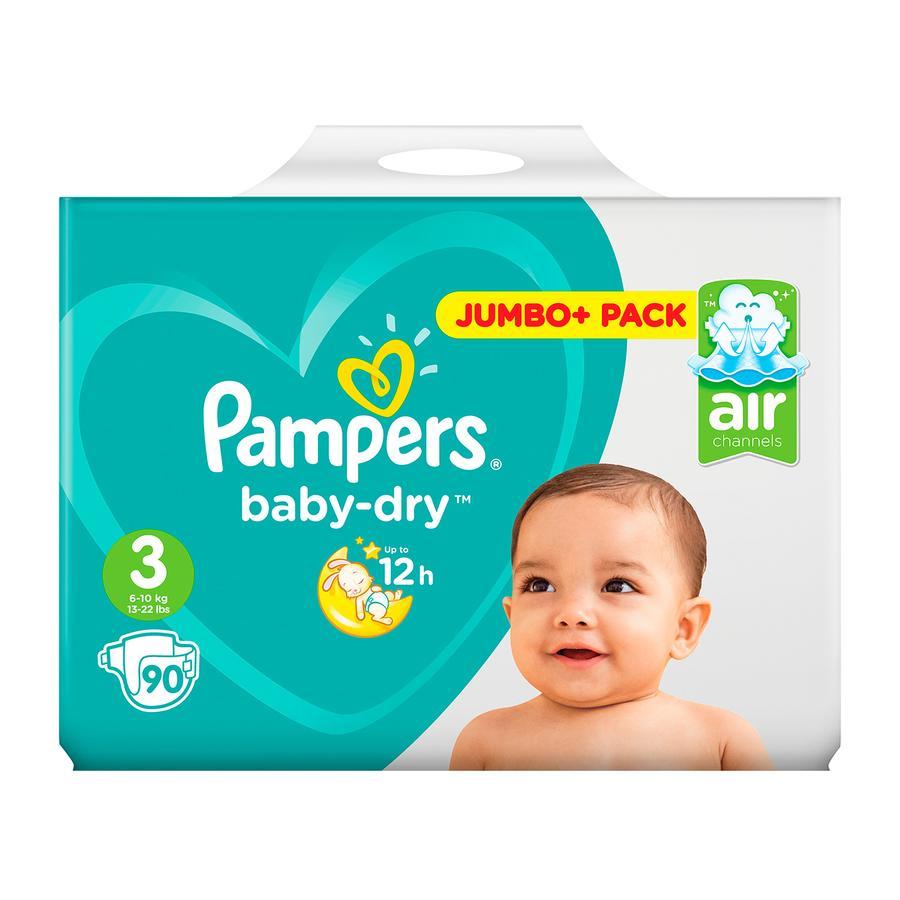 Pampers Baby Dry Midi T. 3 (4-9 kg) Jumbo Plus pack