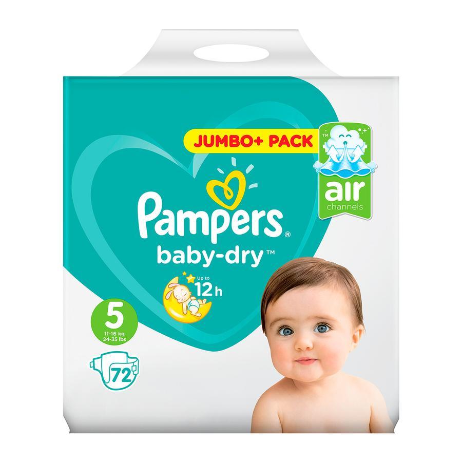 Pampers Baby Dry Storlek 5 Junior 11-25kg Jumbo Plus Pack 72 stycken