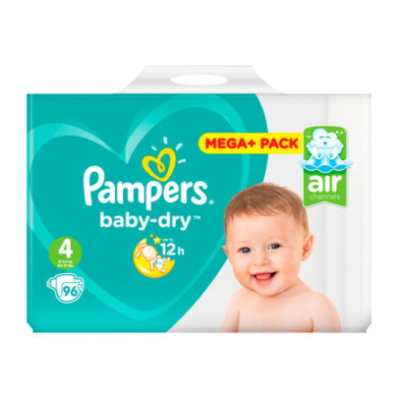PAMPERS Pannolini Baby Dry Maxi Misura 4 (7-18 kg) Confezione super risparmio