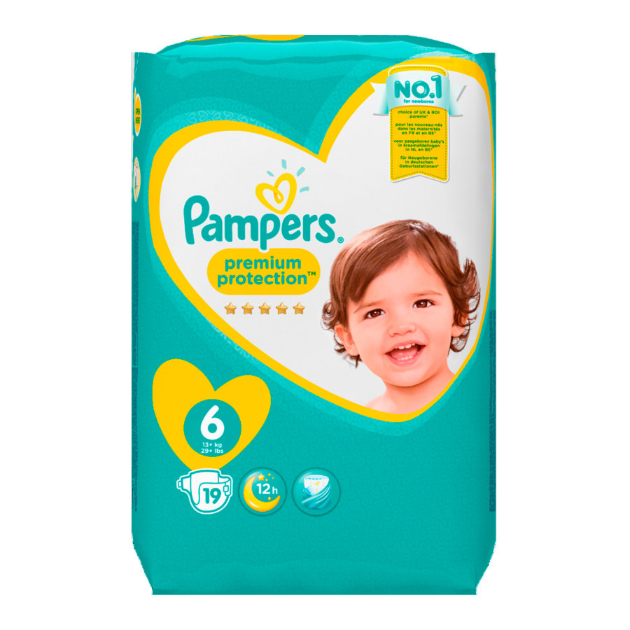 Pampers Windeln Premium Protection Gr. 6 Extra Large 15+ kg 19 Stück