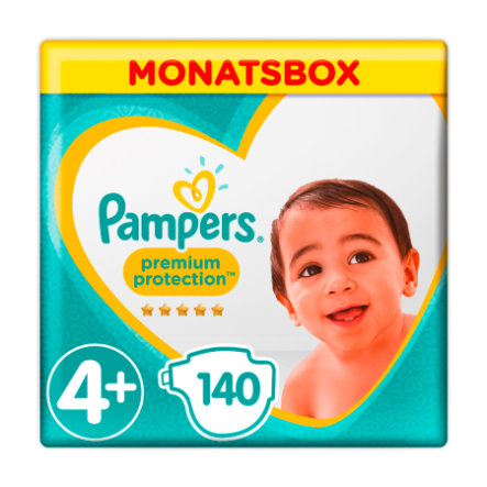 Pampers Premium Protection, koko 4+ (9-18 kg), kuukausipakkaus 140 kpl