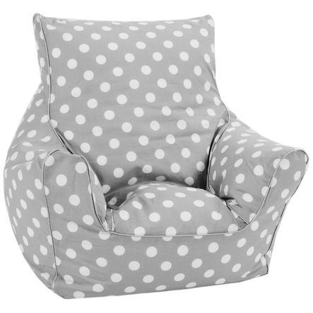 knorr® toys Kindersitzsack - Dots, grau/weiß
