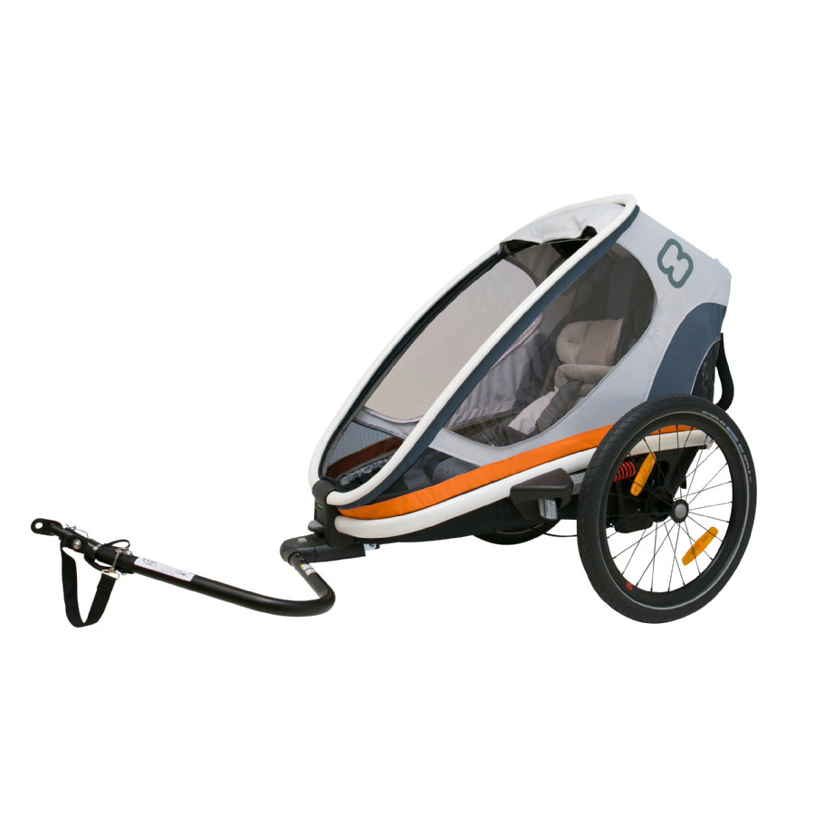 hamax Remorque vélo enfant Outback ONE blanc/gris/orange