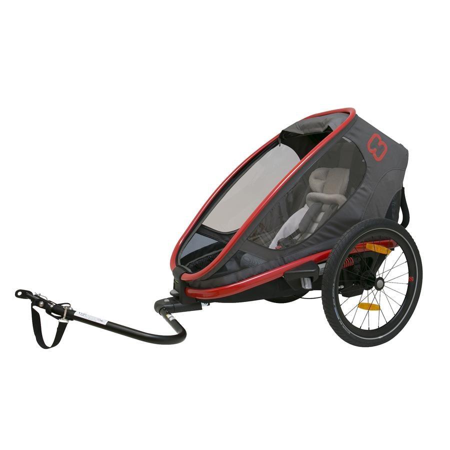 hamax Remorque vélo enfant Outback ONE gris/rouge