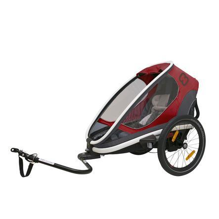 hamax Outback ONE Dětský vozík  červená/šedá/černá