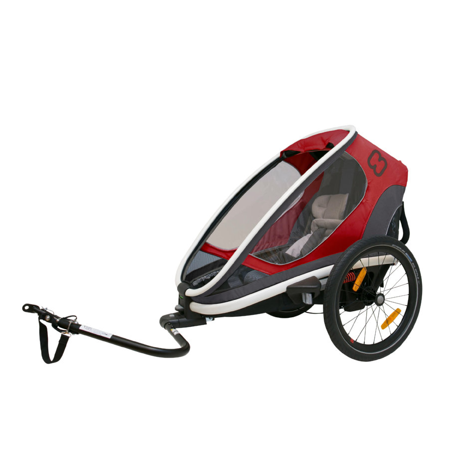 hamax Cykeltrailer Outback ONE rød/grå/sort