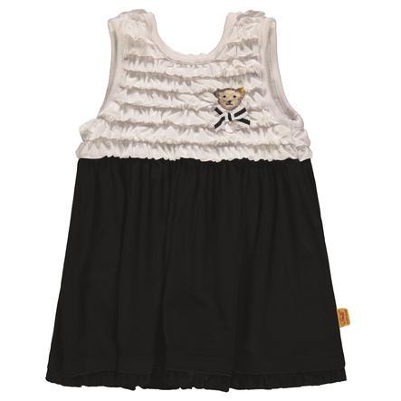 Steiff Girls Kleid, marine/weiß
