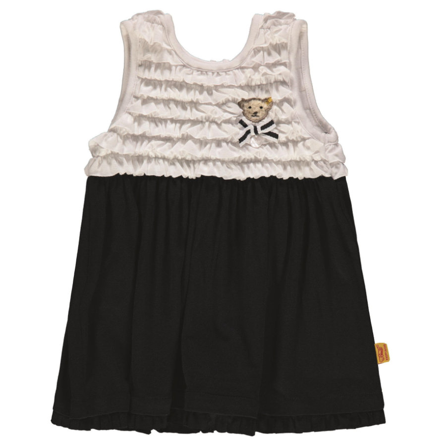 Steiff Girl s vestido, azul marino/blanco