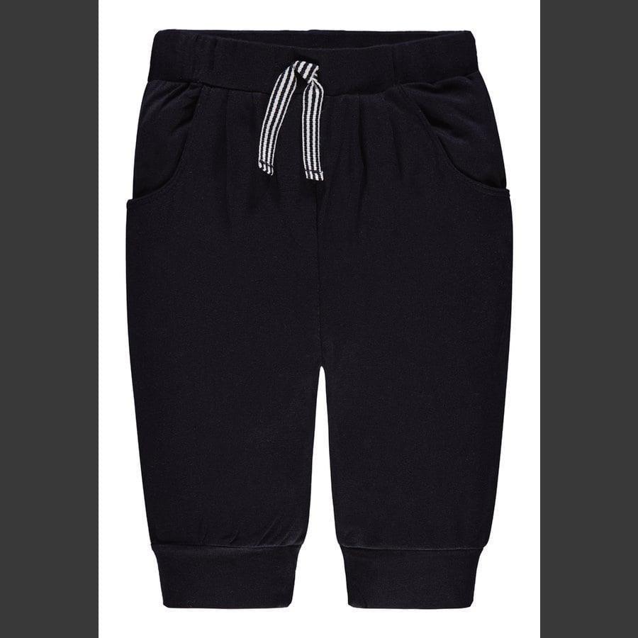 Steiff Girl s pantalones de chándal 3/4 de largo, azul marino