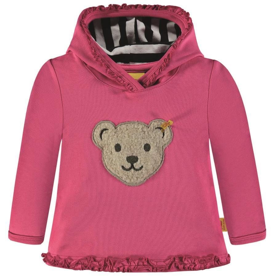 Steiff Girls Sweatshirt mit Rüschen, pink