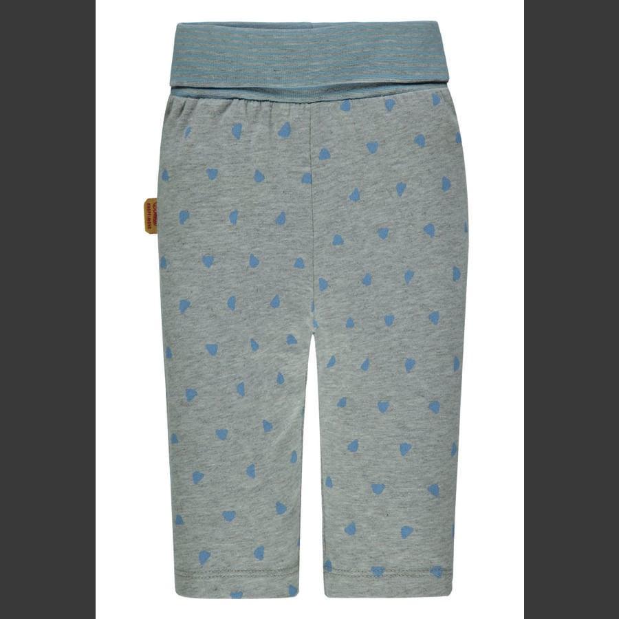 Steiff Legging, grijs met blauwe teddybeertjes