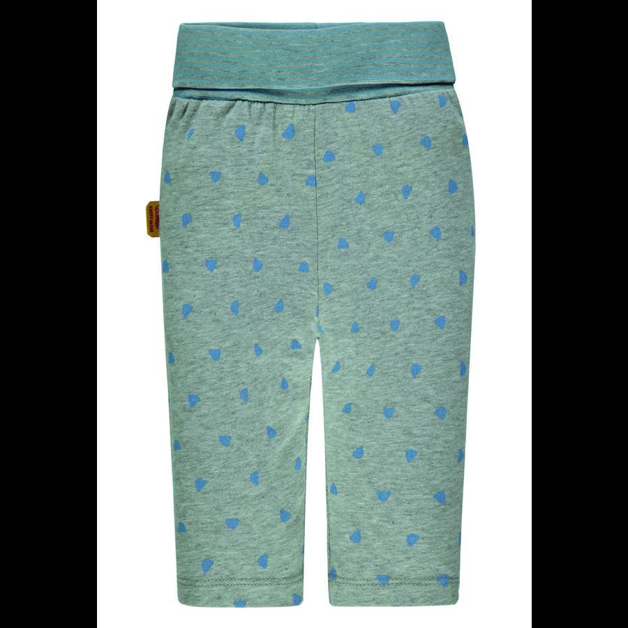 Steiff Leggings, gris avec ours en peluche bleu