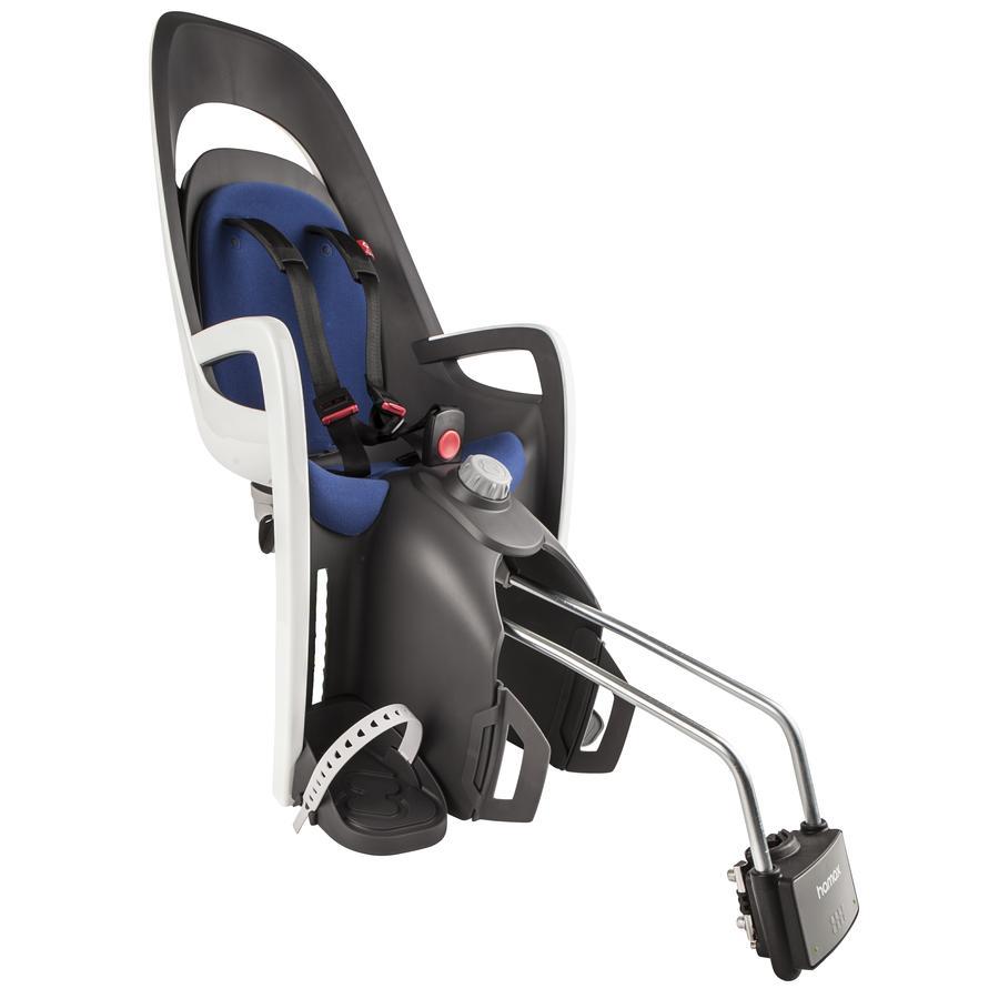 hamax Fahrradsitz Caress mit abschließbarer Halterung Grau/Weiß/Blau