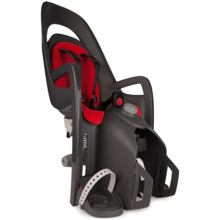 Hamax Sykkelsete Caress C2 med festeplate for bagasjebærer grå/rød