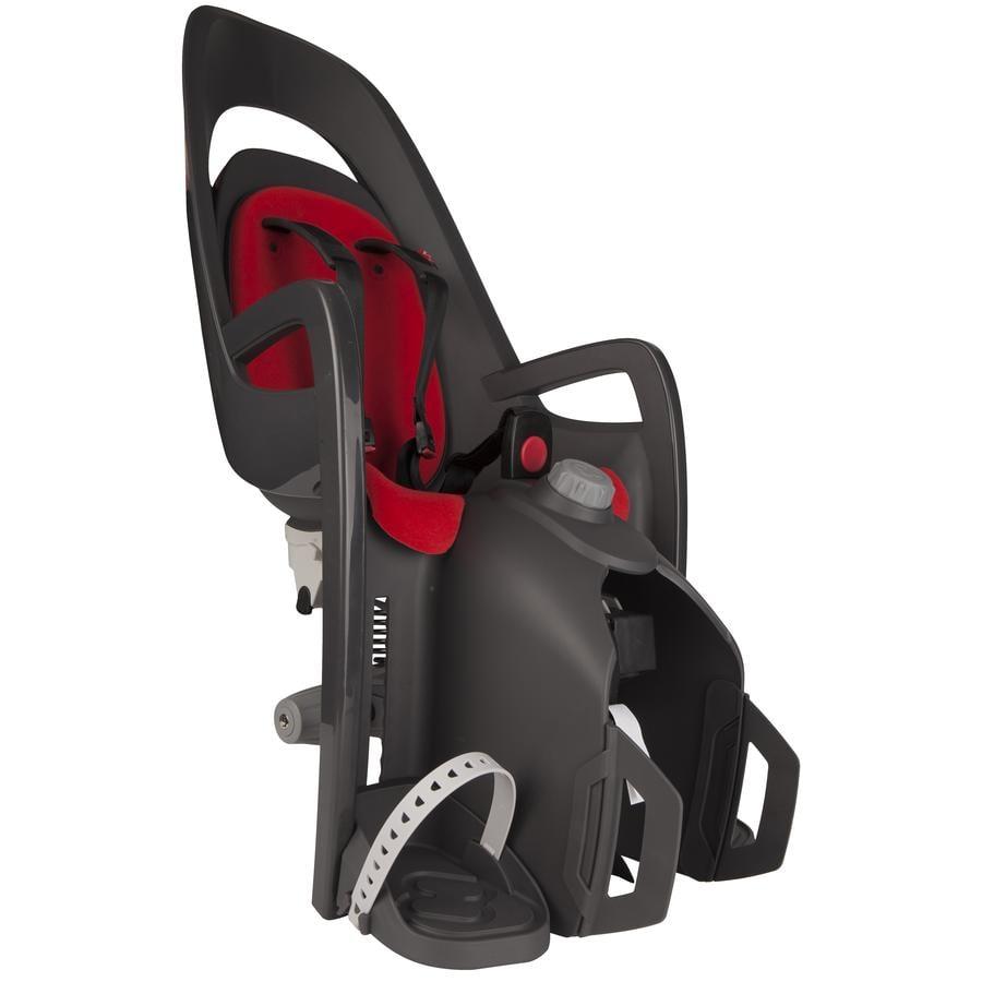 hamax Seggiolino per bicicletta Caress C2 con adattore portapacchi grigio/rosso