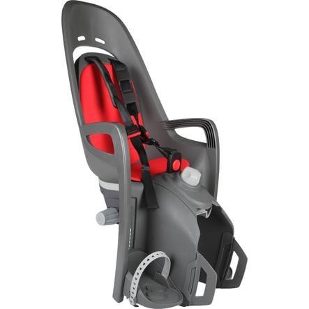 hamax Fietsstoel Zenith Relax met adapter voor bagagedrager grijs/rood