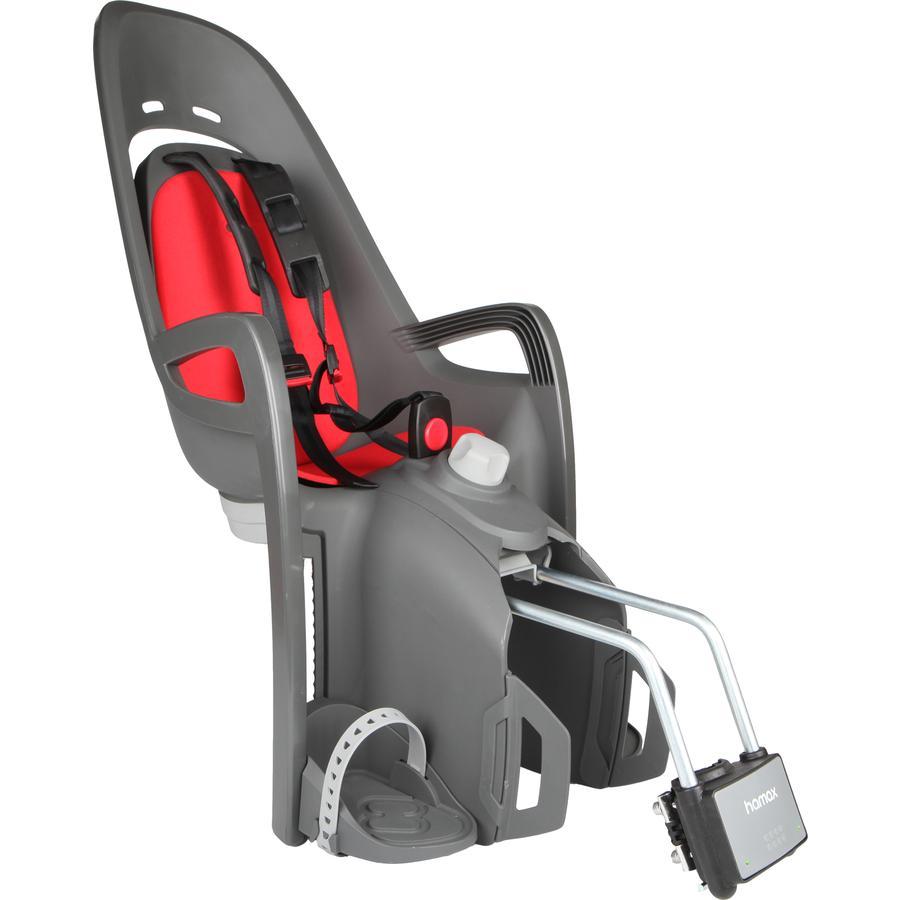 hamax Fahrradsitz Zenith Relax mit Halterung Grau/Rot