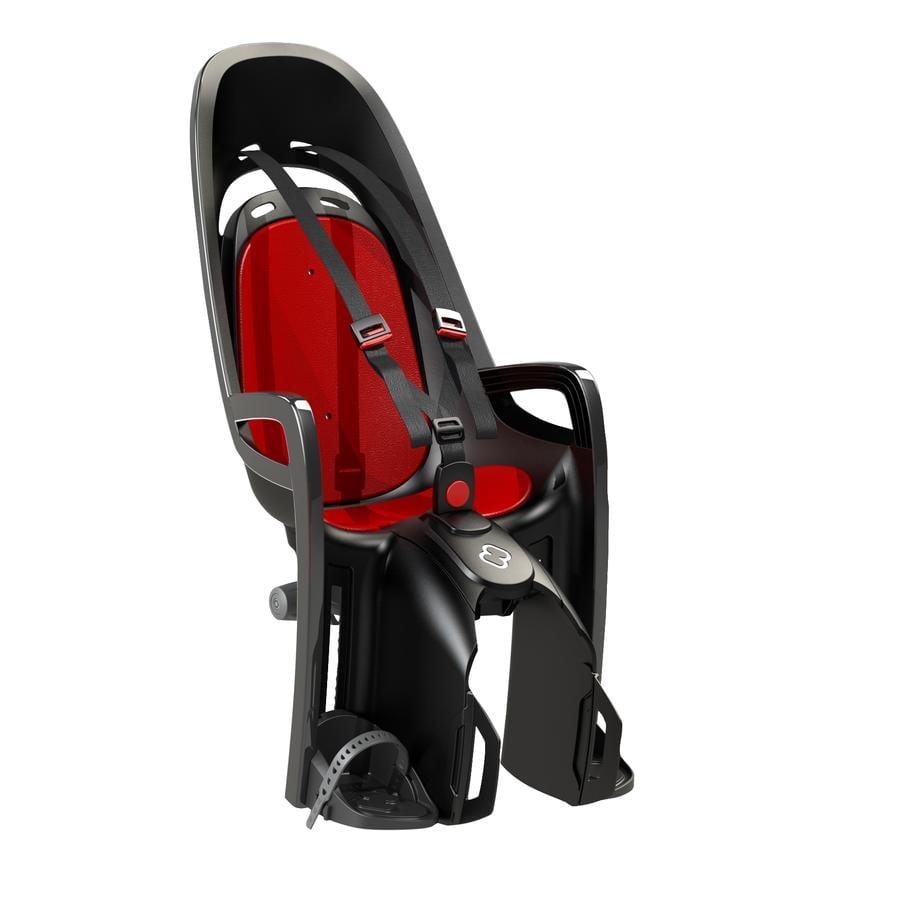 hamax Fahrradsitz Zenith mit Gepäckträgeradapter Grau/Rot