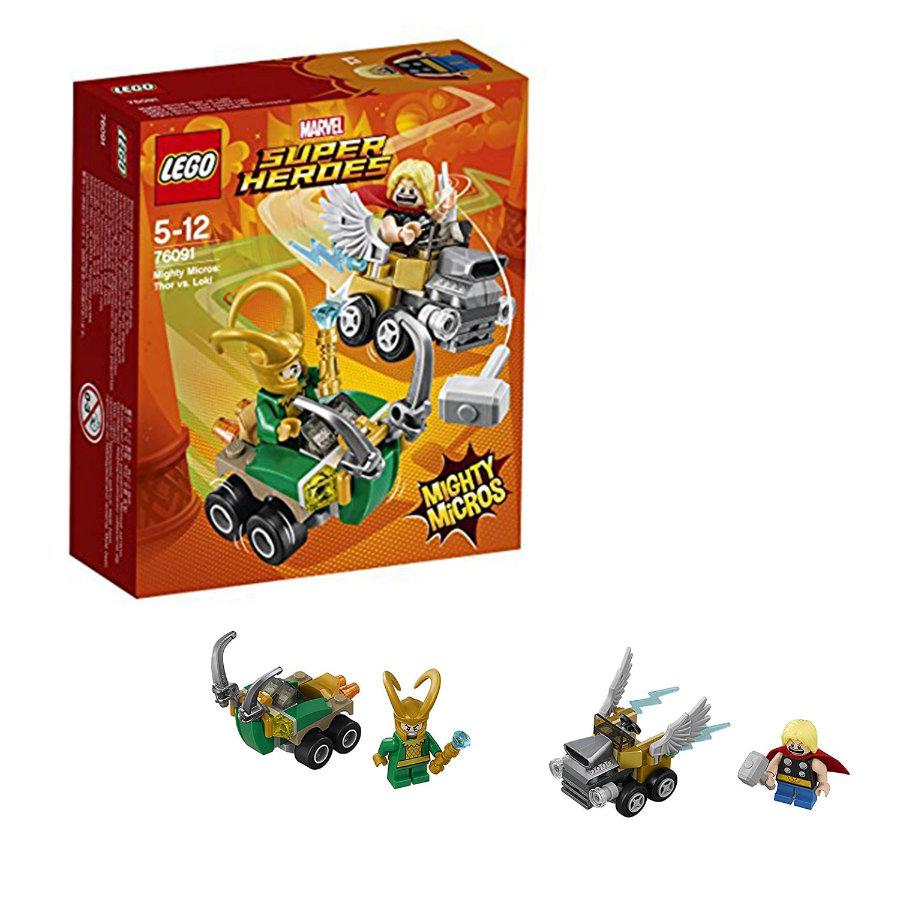 LEGO® DC Super Heroes - Mighty Micross: Thor contra Loki 76091