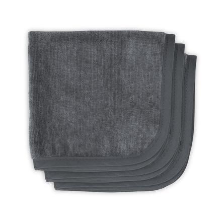 Jollein Hydrofiele doeken 30 x 30cm Velvet terry antraciet  3-pack