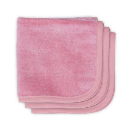 jollein Velvet Terry korallrosa munnhåndkle med 3 pakker