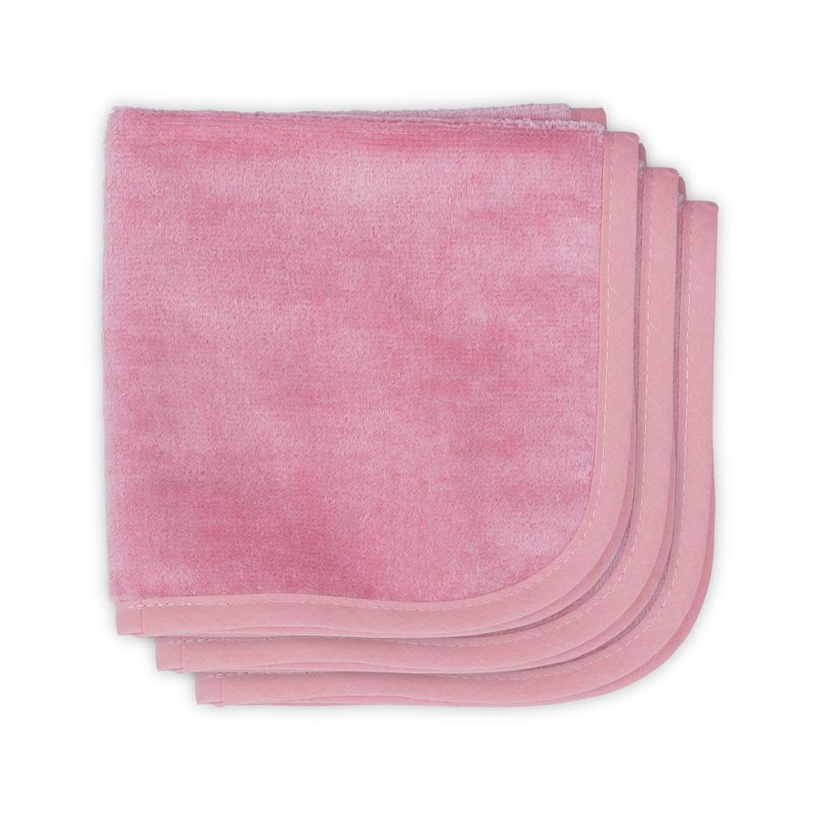 Jollein Hydrofiele Doeken Velvet Terry coral pink 3-pack