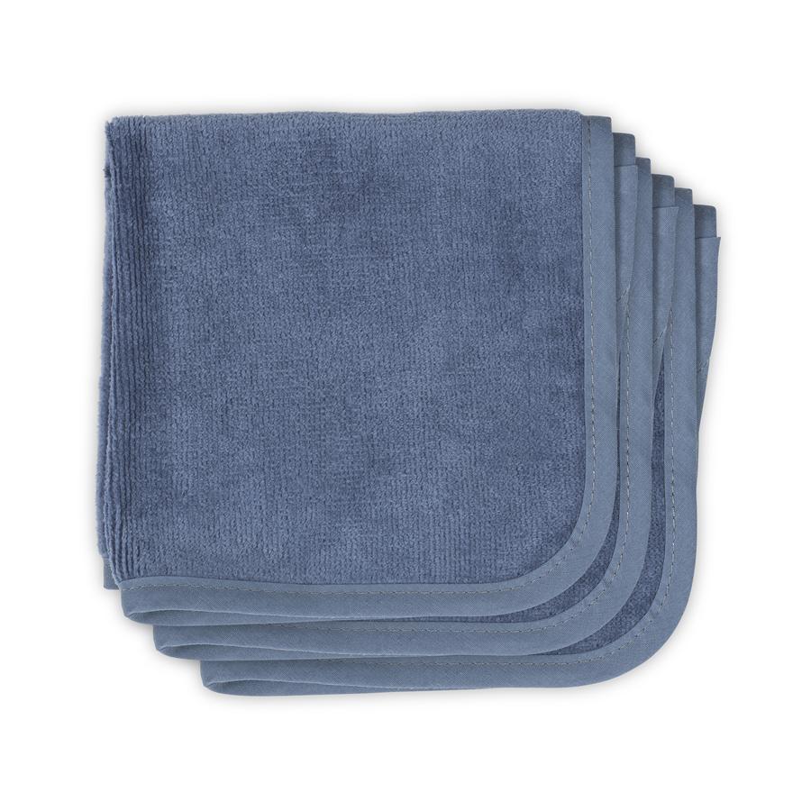 jollein Velvet froté vinobraní modrý ubrousek 3-pack