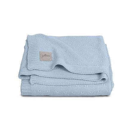 jollein Couverture bébé tricot bleu 75 x 100 cm